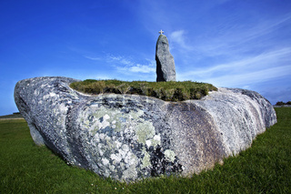 Menhir Men Marz, Bretagne, France