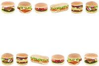 Hamburger Cheeseburger Fast Food Textfreiraum Copyspace