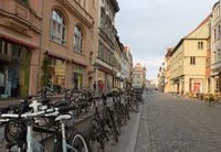Wittenberger street with bicycles