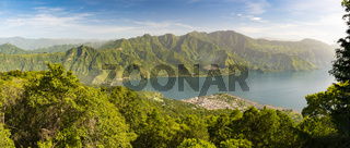 Panorama Of Lake Atitlan