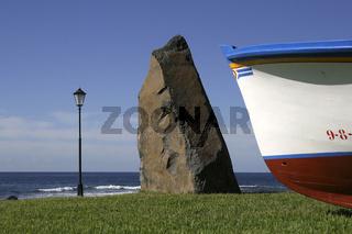 Fischerdenkmal in Valle Gran Rey. Fishermen memorial.