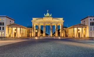 Panorama des Brandenburger Tores in Berlin