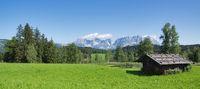 Panoramic view of Schwarzsee lake