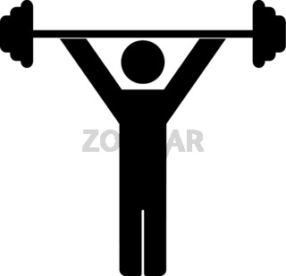 Weightlifting icon on white