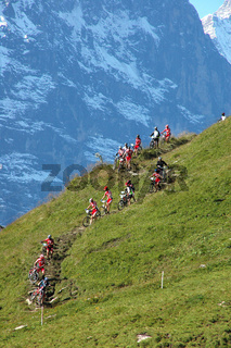 Mountainbiker in Eiger region