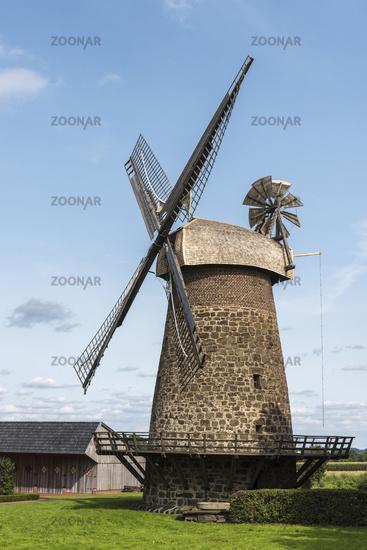windmill, Eilhausen, Luebbecke, East Westphalia-Lippe, Germany, Europe