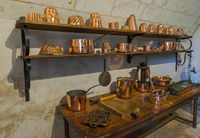 Kitchen in Chenonceau castle - Loire Valley - France