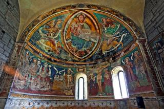 Fresken im Chor der rom. Kirche San Nicolao