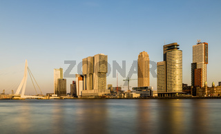 Rotterdam Wilhelminapier  with Bridge Evening Light