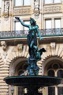 statue of Hygieia fountain near Hamburg Town Hall
