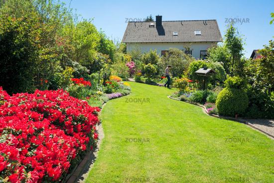 Photo Rasen Azaleen Haus Garten Image 9379438