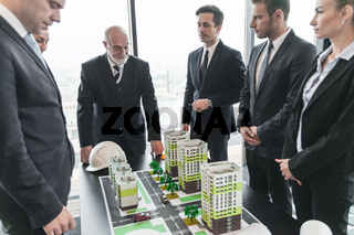 Meeting of architects and investors