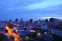 Phnom Penh Town during twilight time