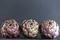 three artichokes