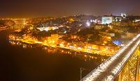 Night skyline of Porto, Portugal