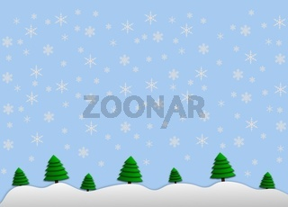 illustration winterlandschaft