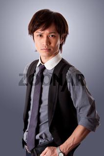 Confident Asian business man