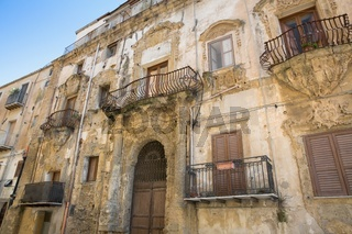 typical architecture of the old house in Italy