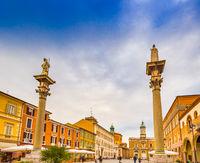 main square in Ravenna in Italy