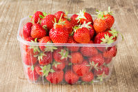 Punnet of delicious fresh strawberries