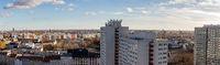 Berlin City Skyline Panorama mit Hochhäusern