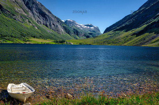 A mountain lake in Norway