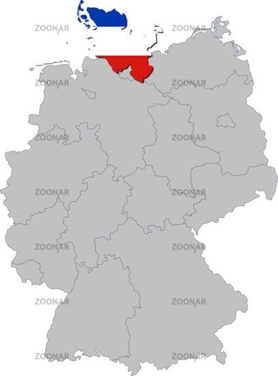 Schleswig-Holstein auf Deutschland
