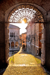 Town of Udine ancient gate aut sunset view
