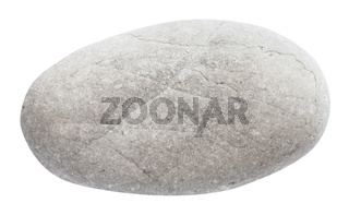 polished river pebble isolated on white