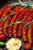 Closeup of Wiener Sausages in a pan