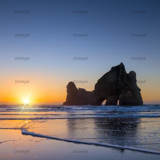 Archway Islands, Wharariki, New Zealand