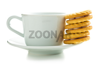 Jam ring biscuits and mug.