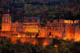 Schloss Heidelberg bei Nacht
