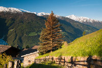 Morning sun in the mountains of South Tyrol