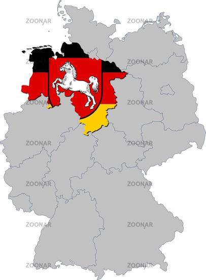 Niedersachsen auf Deutschland
