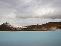 geothermal power plant. Bjarnarflag, near Lake Myvatn, Iceland