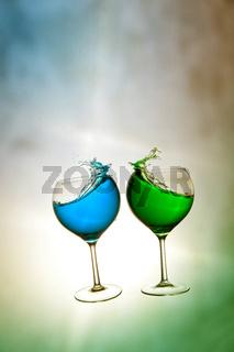 Farbige Getränke