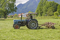 Farmer at the hay harvest