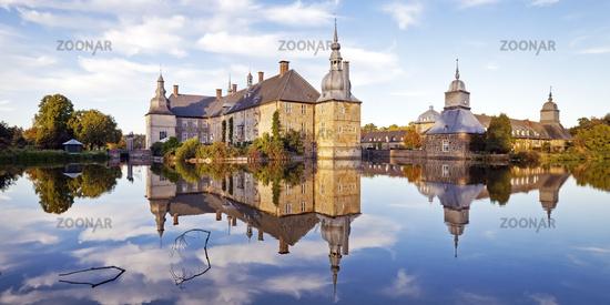 Schloss Lembeck, a moated castle, Dorsten, North Rhine-Westphalia, Germany, Europe