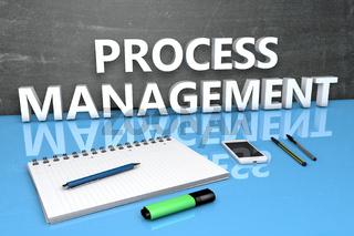 Process Management text concept
