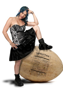 Beautiful Woman wearing a dress and boots