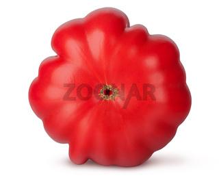 Fresh heirloom tomato bottom view