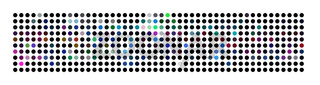 Abstract powerful dot panorama background pattern
