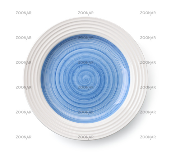 Blue empty plate
