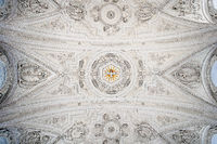 Ceiling vaulting baroque and pilgrimage church St. Coloman, Schwangau, Bavaria, Germany