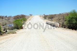 Brücke über den Klein Aub Namibia
