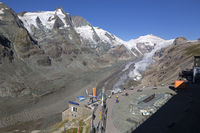Pasterze Glacier, Grossglockner, Hohe Tauern mountain range, Austria, Europe