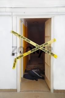 Crime scene signs