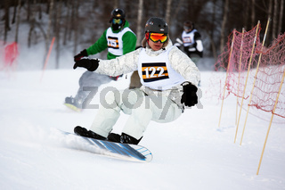 Winter ski and bordercross competition