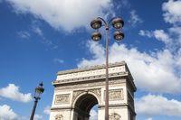 Arc de Triomphe in Paris Frankreich
